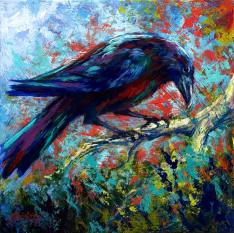 """Lone Raven"" by artist Marion Rose at pixels.com"