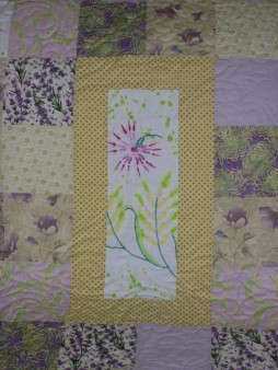 Center block of quilt