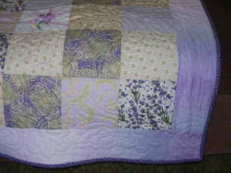 Corner of quilt