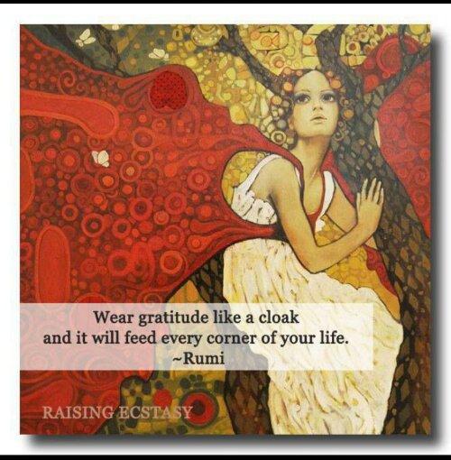 rumi gratitude