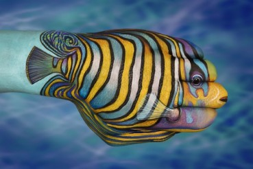 Hand painting by Guido Daniel - tropical fish 2