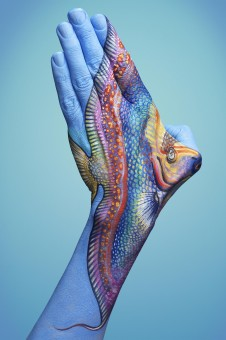 Hand painting by Guido Daniele - tropical fish 1
