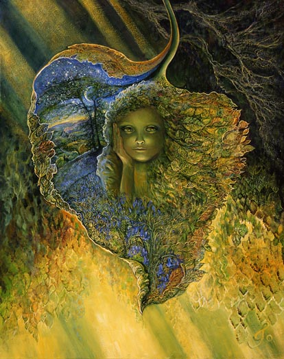 "Image by artist Josephine Wall, ""Leaf Child"" - www.josephinewall.co.uk"