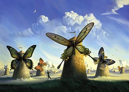 Image by artist Vladimir Kush, http://vladimirkush.com/fauna-in-la-mancha