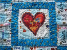 Center of doll quilt