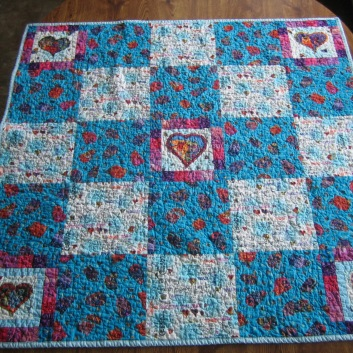 Front of child's quilt