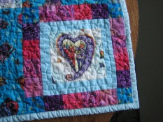 Lower right corner of child's quilt