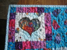 Upper left corner of child's quilt
