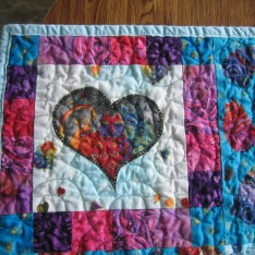 Upper left corner of child's quilt
