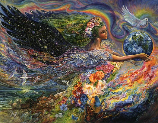 "Image by artist Josephine Wall, ""Earth Angel,"" http://www.josephinewall.co.uk/earth_angel.html"
