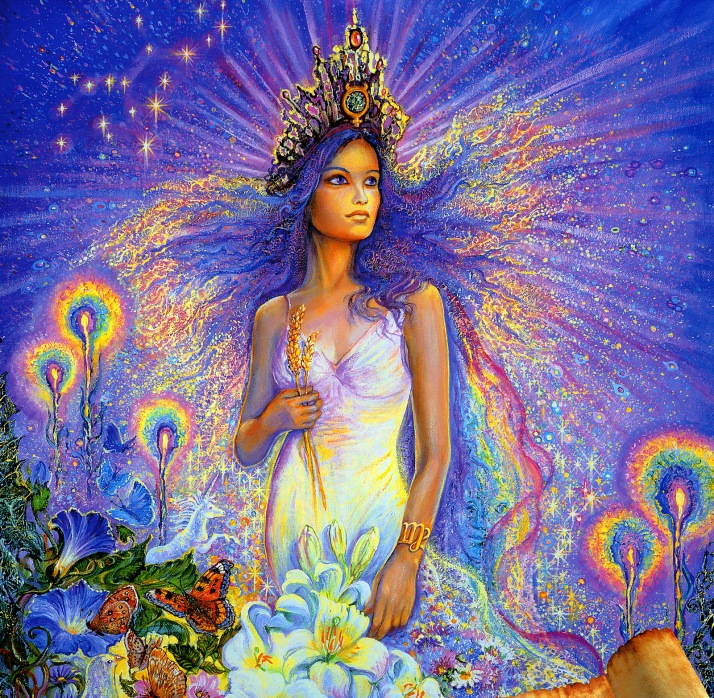 "Image by artist Josephine Wall, ""Virgo"" http://www.josephinewall.co.uk/zodiac/virgo.html"
