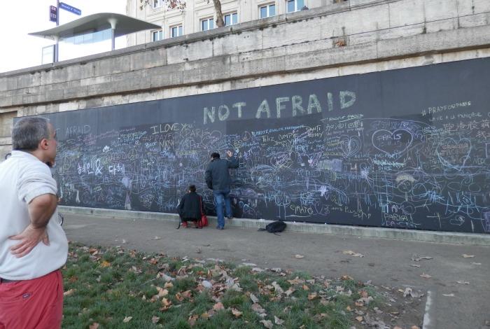 Blackboard at River Seine, B