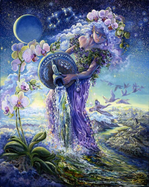 Image by artist Josephine Wall at http://www.josephinewall.co.uk/zodiac/aquarius.html