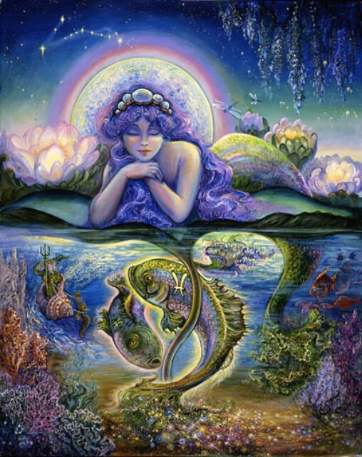 Image by artist Josephine Wall at http://www.josephinewall.co.uk/zodiac/pisces.html