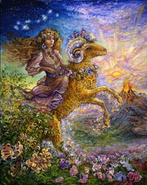 Image by artist Josephine Wall at http://www.josephinewall.co.uk/zodiac/aries.html