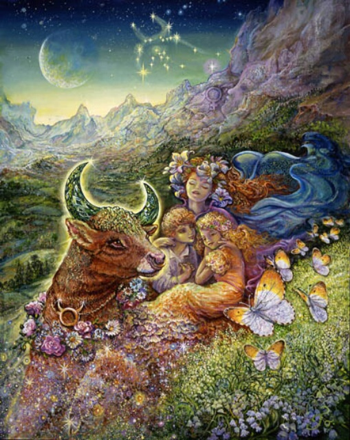 Image by artist Josephine Wall at http://www.josephinewall.co.uk/zodiac/taurus.html