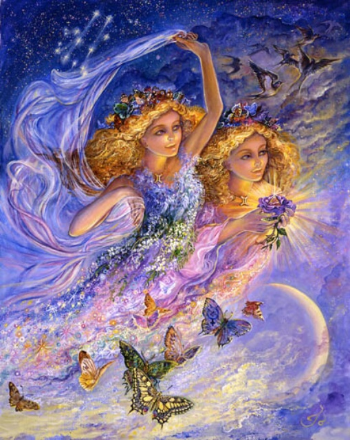 Image by artist Josephine Wall at http://www.josephinewall.co.uk/zodiac/gemini.html