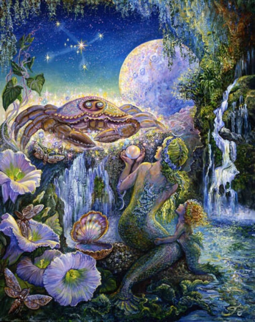 Image by artist Josephine Wall at http://www.josephinewall.co.uk/zodiac/cancer.html