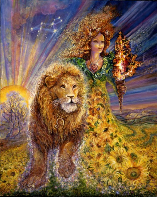 Image by artist Josephine Wall at http://www.josephinewall.co.uk/zodiac/leo.html