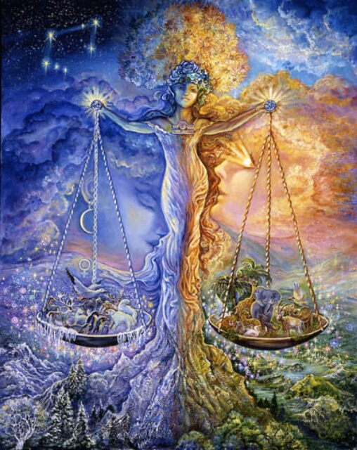 Image by artist Josephine Wall at http://www.josephinewall.co.uk/zodiac/libra.html
